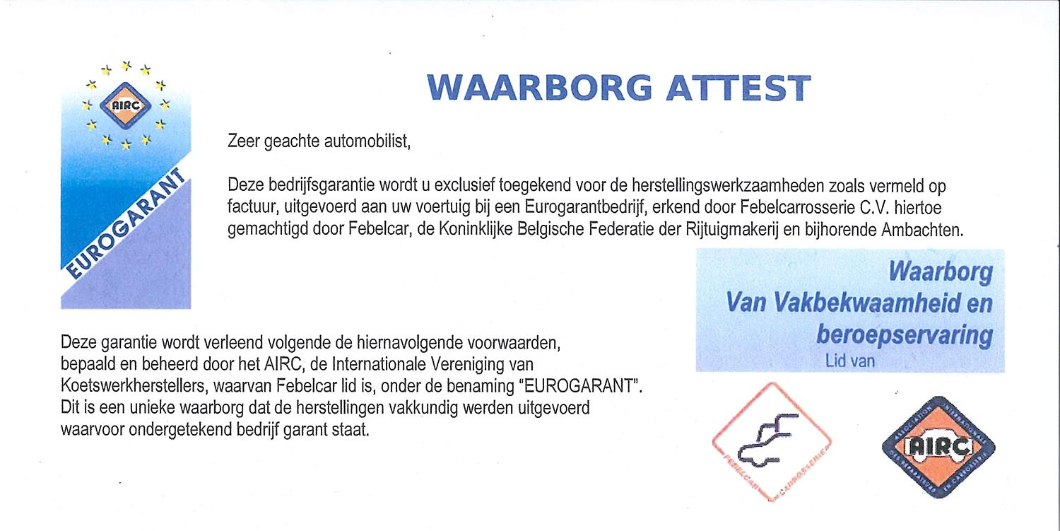 Waarborg Attest